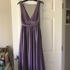 Lulus Long Dusty Purple Bridesmaid Dress